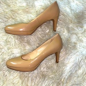 Cole Haan Patent Leather Nude Heels 8